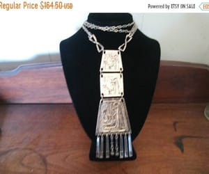 ethnic necklace, tribal necklace, and etsy image
