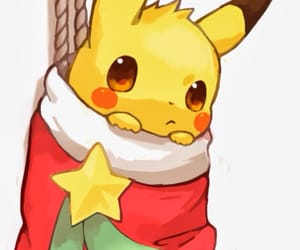 pikachu, pokemon, and christmas image
