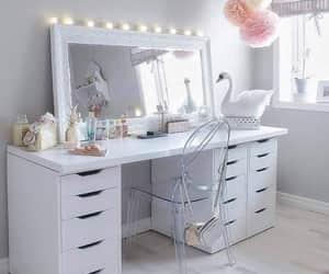 white, design, and desk image