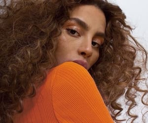 hair, orange, and curly hair image