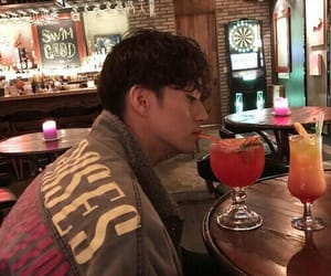 ulzzang, boy, and drink image