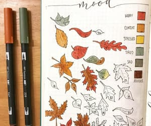autumn, fall, and bullet journal image