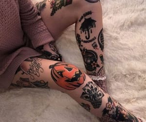 tattoo, girl, and Halloween image