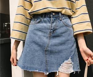 skirt, fashion, and denim image
