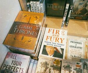 book, bookshelf, and donald trump image