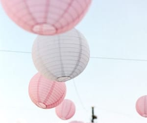 pink, sky, and lantern image