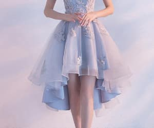 blue homecoming dress, short homecoming dress, and lace homecoming dress image