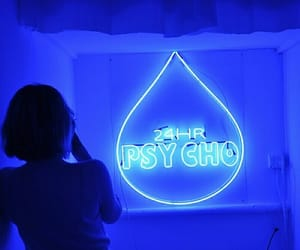 blue, Psycho, and light image
