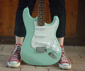 blue, green, and guitar image