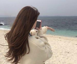 korean, beach, and sea image