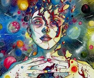 art, universe, and illustration image