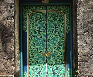 door and green image