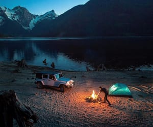 fire, adventure, and camping image