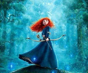 brave, disney, and merida image