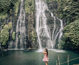 travel, waterfalls, and green aesthetic image