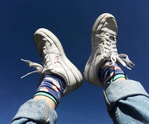 nike, shoes, and sky image