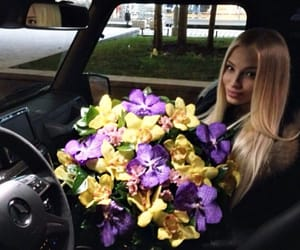 beauty, flowers, and blonde image