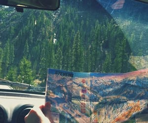 map, mountain, and Road Trip image