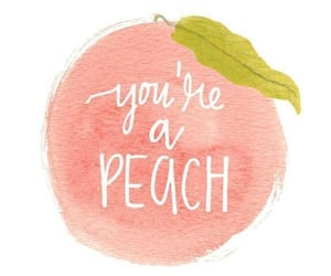 peach and aesthetic image