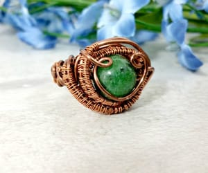 etsy, boho rings, and wire wrapped jewelry image