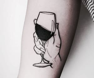 tattoo, wine, and art image