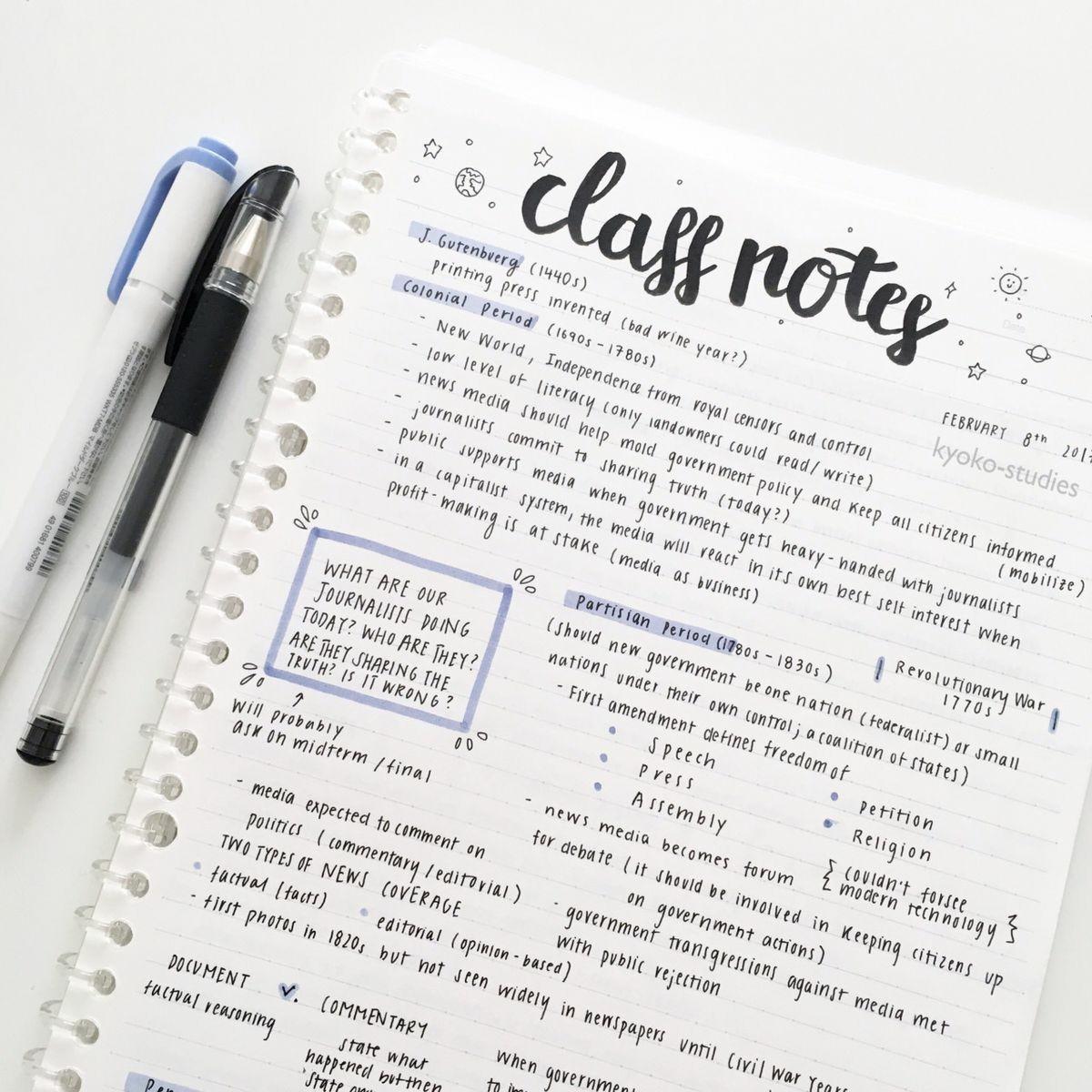 Imagem de notes, school, and study