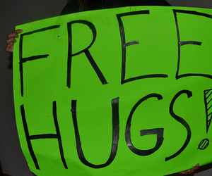 free hugs, photography, and poster image