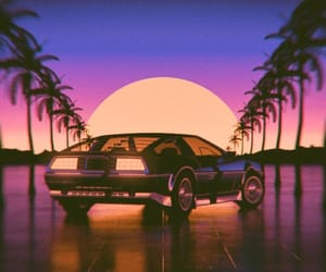 aesthetic, cars, and 80s image