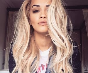 rita ora, hair, and blonde image