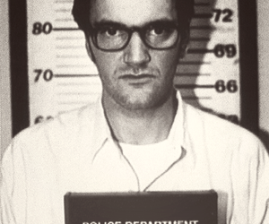 quentin tarantino and black and white image