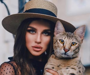 cat, eyes, and fashion image