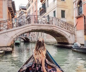 travel, girl, and venice image