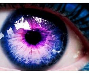 purple, eye, and eyes image