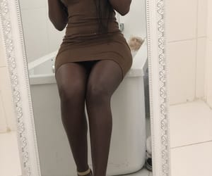 bombshell, brown, and gold image