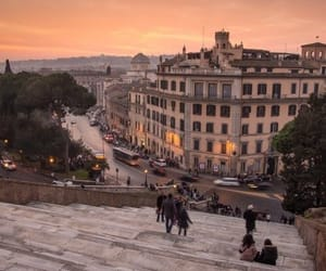 rome, sunset, and travel image