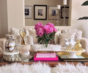 gold, home decor, and living room image