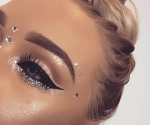 eyebrows, eyeliner, and eyeshadow image