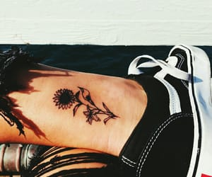 tattoo, flower, and vans image