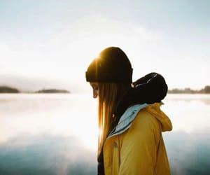 atardecer, girl, and sunrise image