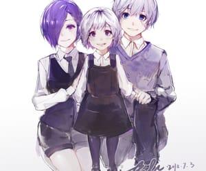 anime couple, tokyo ghoul, and anime image