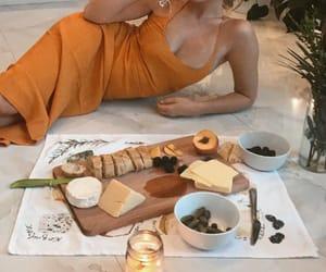 food, girl, and wine image