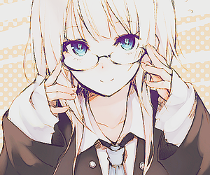 anime, glasses, and kawaii image