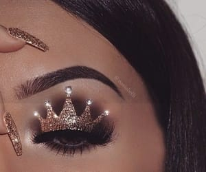 crown, eyebrows, and girl image