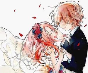anime girl, couple, and anime boy image