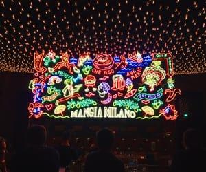 lights, paris, and restaurant image