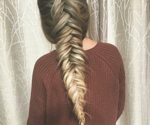 braid, style, and hair image