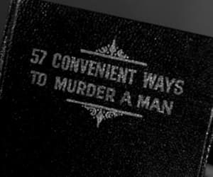 murder, book, and man image