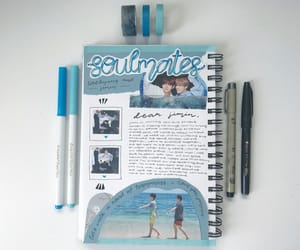 journal, tae, and soulmates image