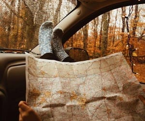 autumn, travel, and map image