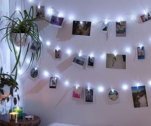 bedroom, light, and decor image